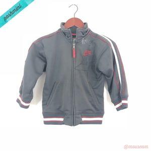 [Nike] Boy's Gray Zip Up Track Jacket